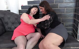 Chubby sluts Iveta and Bobby M get fucked away from one younger guy