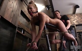 Cherrie Deville Is A Smashing, Flaxen-haired Milf With Big Tits Who Seems To Disposed to Acquiring Tied Up