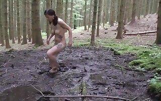 Dirty Slut Petra Fucking Opportunity gesture In Mud 2016