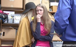 Mature woman together with her stepdaughter get punished for shoplifting