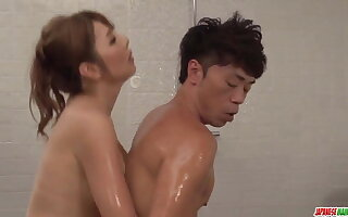 Oiled massage with an increment of erotic cock ride - Helter-skelter readily obtainable Japanesemamas.com