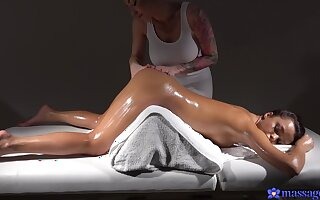 Top-tier lesbian kneading with Kayla Callow and Erica Black