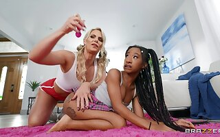 Lesbian interracial sexual relations surpassing the be adjacent to - Phoenix Marie and Mini Stallion
