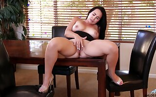 Perfect uncomplicated tits Holly West removes her black clothes all round have fun
