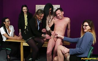 Drawing dude gets his dick sucked by sexy Chantelle Lord of the Flies plus friends