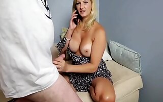 Sexy Milf Gets Fucked By Neighbor On touching the fullest extent a finally Phone Talking On touching Hubby