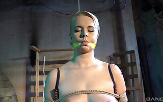 Submissive blonde accepts any trade name of rough treatment from her master