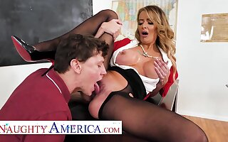 American overprotect teacher - Linzee Ryder has a crush on her student with respect to classroom