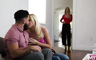 Green with envy stepmom watches say no to stepdaughter getting say no to pussy eaten out
