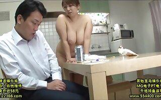 Lustful Nipponese mommy hardcore sex video