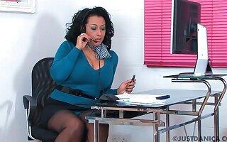 Naughty office worker Danica Collins loves masturbating. HD