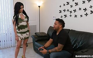 Quickie fucking in the kitchen with quibbling wife Kitty Caprice