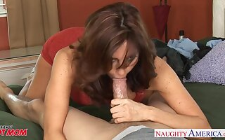 Playful MILF with off colour boobies Tara Sumptuously wanna some sensual doggy