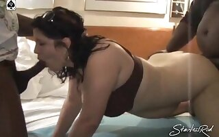 Slu Wife Came to Hotel Room to get Bred by BBC Bovines - Heavy dick