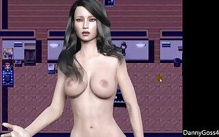 Hot busty 3d girl makes me cum