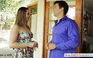 Too hot nextdoor milf Dani Daniels flirts and wants to disgust nailed hard