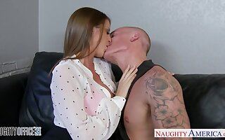 Reception girl Brooklyn Woo sucks a dick together with gets laid