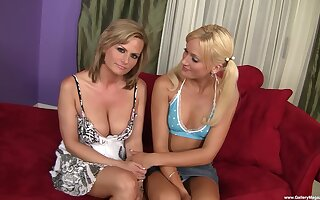 Smashing cock sharing threesome cam program