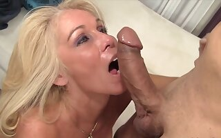 Naughty grandmas taking hard dicks in brashness and perform excellent blowjobs