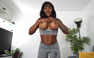 Nude jet-black loves a goof facial