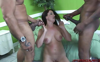 Horny MILF Sandy takes a transcript dose of Black Meat