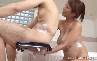 Closeup video of an adorable Japanese skirt getting fucked hard