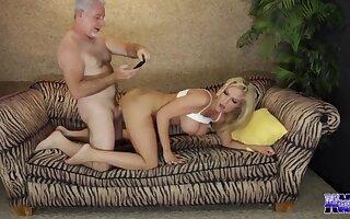 Blonde Milf Grandpa
