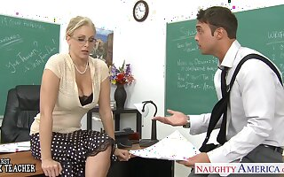 Sexy big breasted blonde is fucked really hard sideways apt on the table