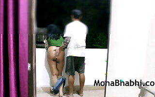 Indian Aunty Outdoor With Her Husband Giving Blowjob Going to bed