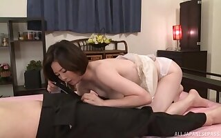 Nude Japan MILF sucks dick with an increment of fucks like a pro
