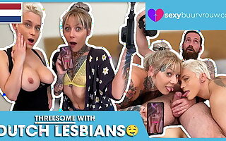 A Threesome With Two Lesbians (Holland)! SEXYBUURVROUW.com