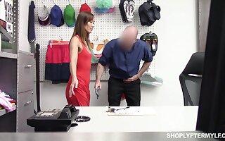 Hidden cam porn for the slutty shoplifter