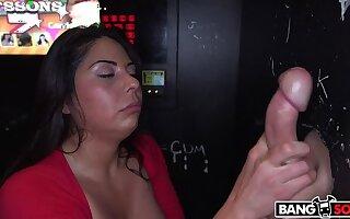Big tit MILF gets 4 cocks