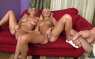 Blonde babes fucked by adequate for lover