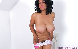 Solo video of dirty Danica Collins playing take panel coupled with her pussy