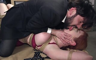 Dirty Lauren Phillips being punished before getting fucked unchanging