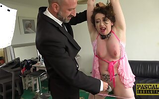 Tied up wife Dehira gets spanked and rough penetrated by her man