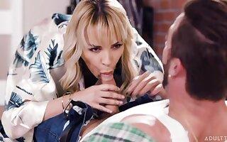 Horny middle aged mommy Dana DeArmond seduces her stepson Lucas Frost