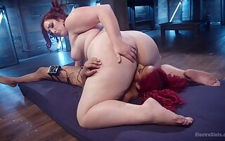 Big ass whore licks and fucks obedient woman in crazy femdom