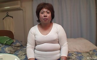 Mature Miwako Ito gets her unshaved pussy pleased by her lover