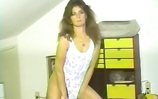 Real amateur wife masturbates then gets fucked