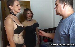 Training of Slutwife D - ThaiSwinger