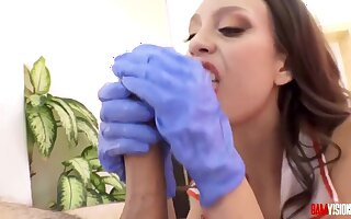 Jade Nile is a dirty minded nurse who likes to get fucked in the ass