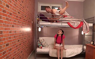 Roommates share a locate helter-skelter a prexy intense threesome