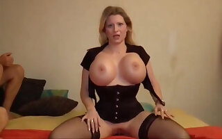 Deutsch milf enjoys giving POV guy a blowjob and gets his thick dick into her ass