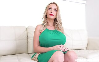 Stepson fucks show boobs wet twat and deep throat of sex eye-opener mommy Billi Bardot