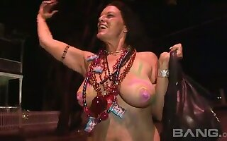 These cheerful women have courage to expose their tits in be the source
