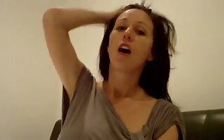 Contaminated webcam MILF is in reality happy to milk her own heavy boobies