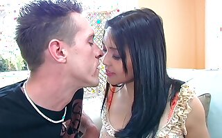 Korean hottie Mika Tan gets her yummy pussy licked together with fucked