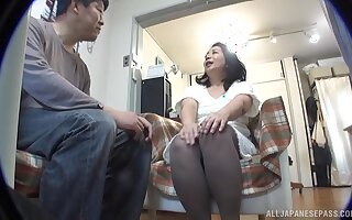 Amateur Asian wife Sawaki Erika gets undressed plus fucked from behind